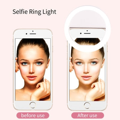 For Highscreen Spark 2 / Power Five Pro / Bay / Power Rage / Prime L / Boost 3 Pro LED Light Flash UP Makeup Selfie Cover Case