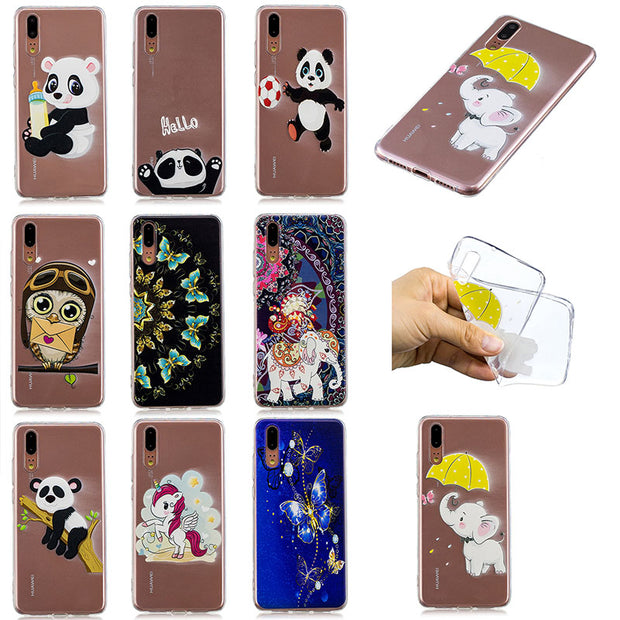 For Huawei P20 Global EML-L09 EML-L09C For Huawei P 20 EML-L29 EML-L29C Premium Edition EML-AL00 Phone TPU Bumper Case Cover