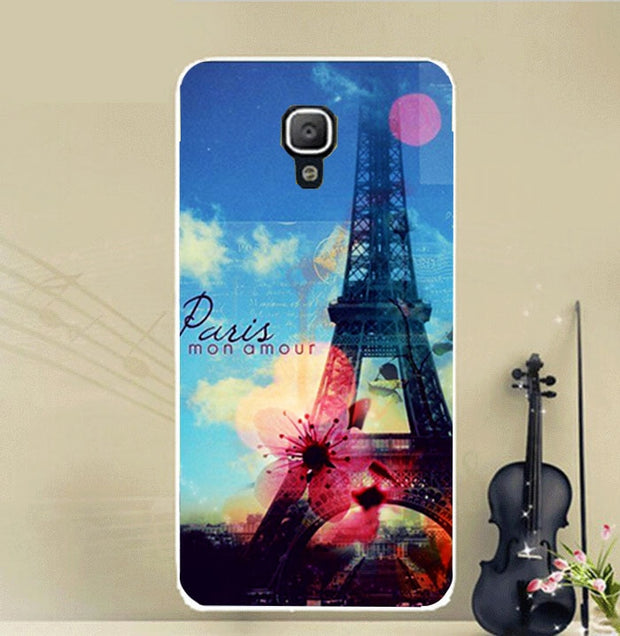 For Huawei Y336 Colored Printing Cute Animals Flowers Eiffel Towers