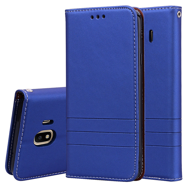 For Samsung J2 J4 J6 2018 Cases Luxury Flip Leather Wallet Cover For Samsung J 4 2018 Magnetic Case Glossy Coque Etui
