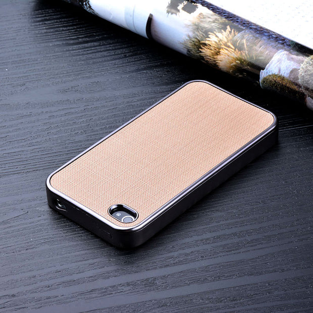 For Iphone 4s Case Luxury Plating Soft Silicone Cover With Bling Grid Leather Sticker Phone Case For Iphone 4 4s Funda Coque