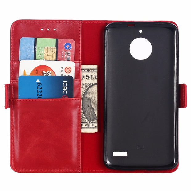 For Motorola E4 G5 G6 Plus Moto G5plus E4plus Luxury Coque PU Leather Flip Phone Case Wallet Card Pocket Slots Funda Cover Case