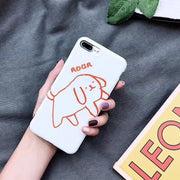 Ins Lovely Illustration Puppy Soft Silicone Case For Iphone X XR XS XS Max 6 6s 7 8 7plus Matte Soft Tpu Back Cover Capa