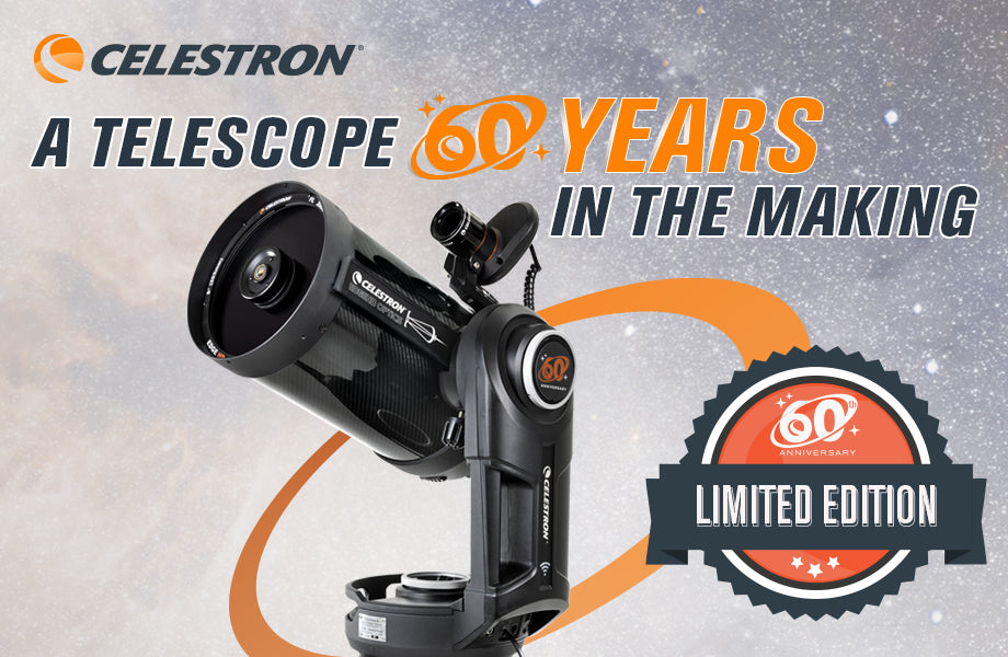 "Celebrate Celestron's 60th birthday: Limited Edition NexStar Evolution 8"" EdgeHD Telescope"