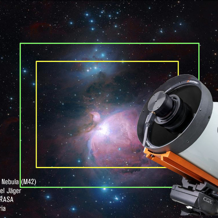 "Celestron 8"" RASA (Rowe-Ackermann Schmidt Astrograph): A field of view example"