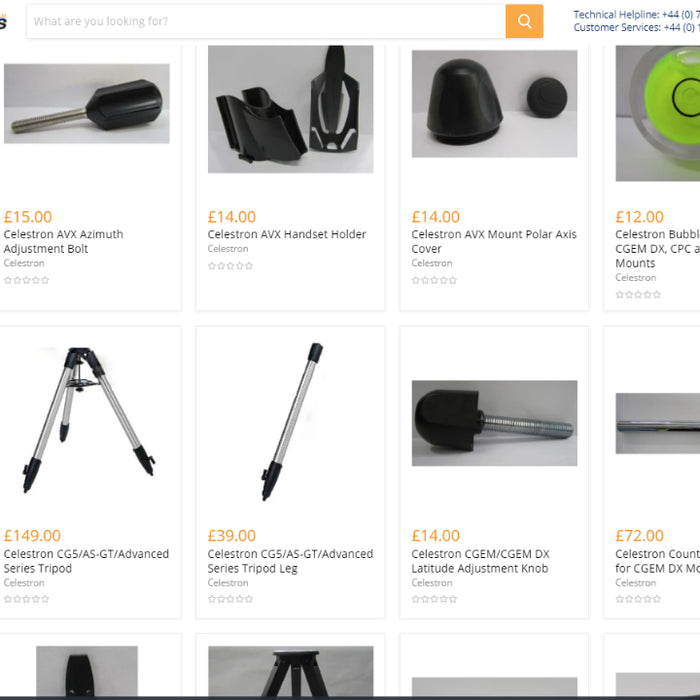 More items added to our Celestron Spare Parts section