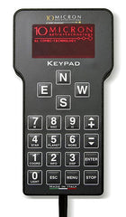 10Micron GM Handset showing the ergonomic keypad and 4-line display
