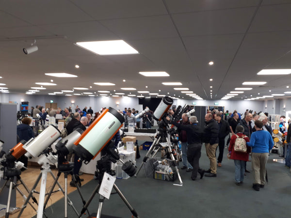 Celestron telescopes on display