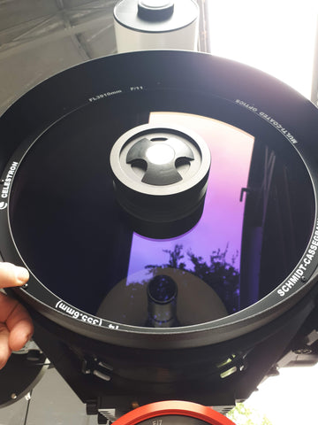 "Celestron 14"" SCT Corrector after cleaning"