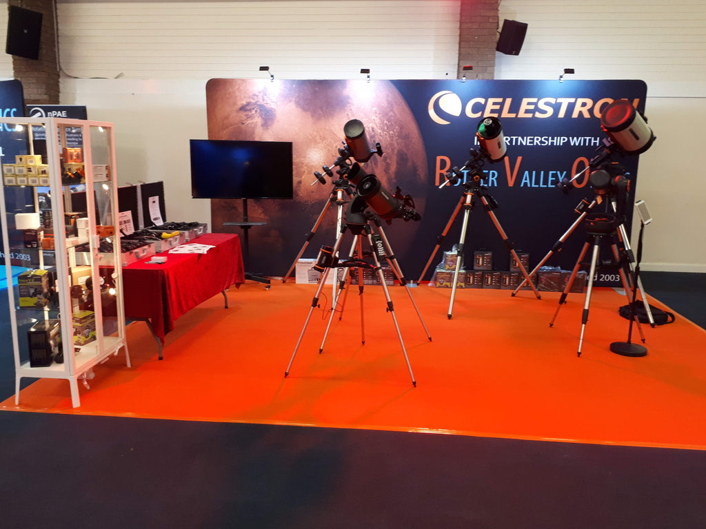 Celestron and Baader booth with RVO