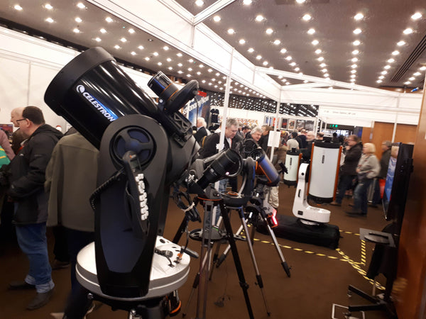 Celestron telescope row