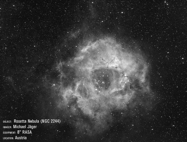 "Celestron RASA 8"" Image of the Rosette Nebula."