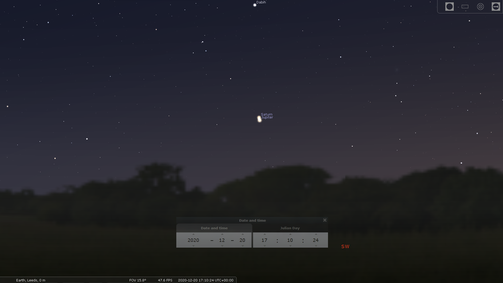 Mars Jupiter and Saturn in December 2020
