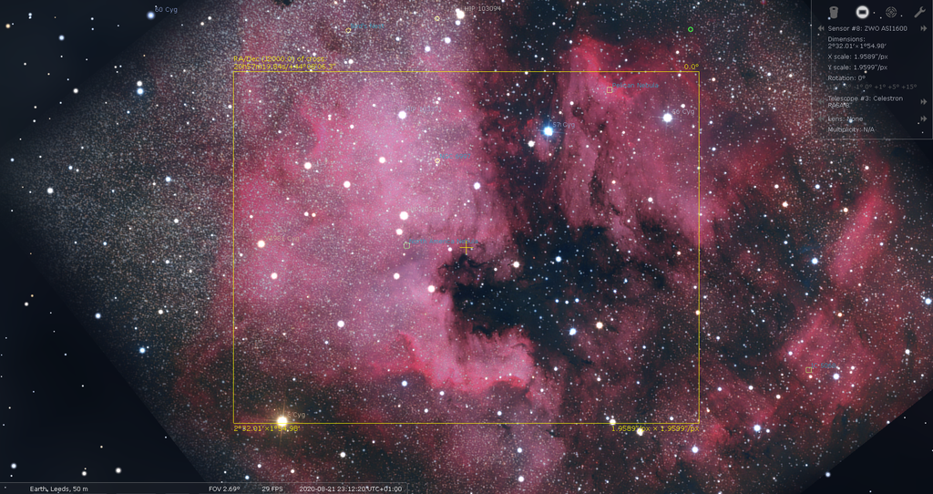 NGC7000 and Pelican in Cygnus