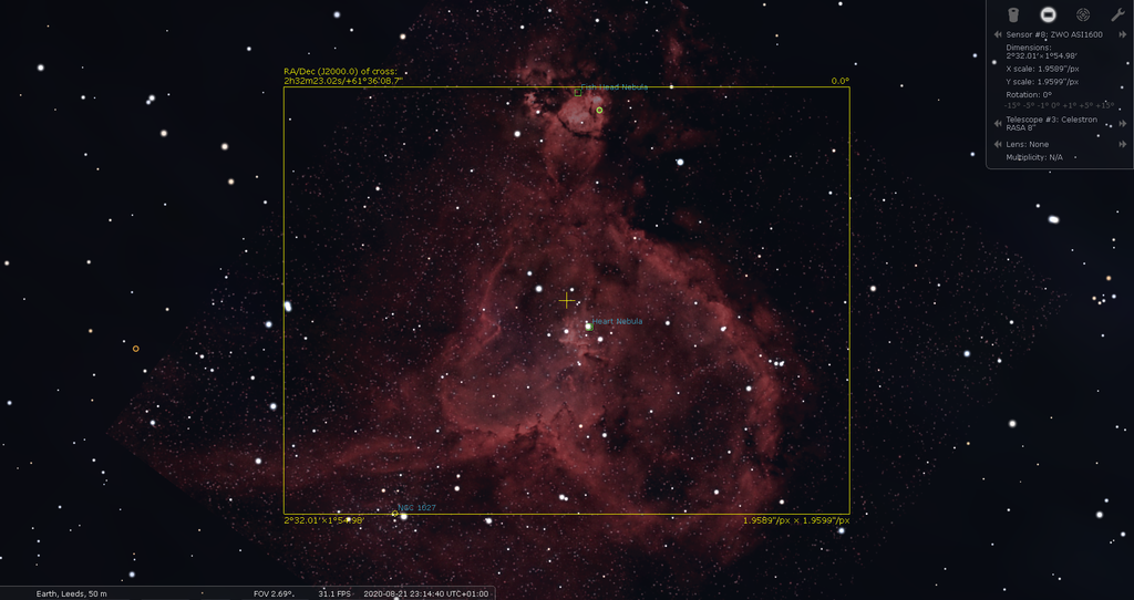 Heart Nebula in Cassiopeia