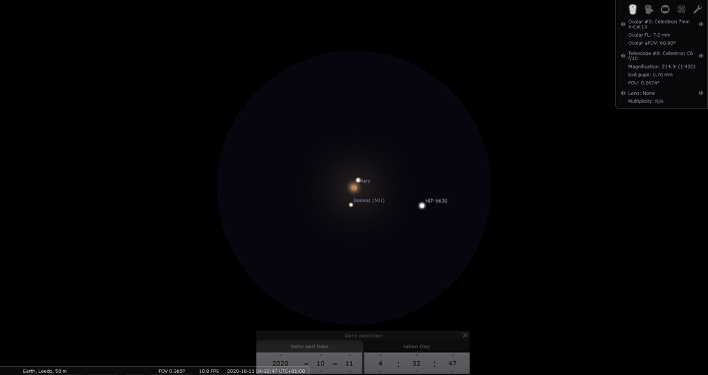 "Mars through a 6"" SCT at ~200x"