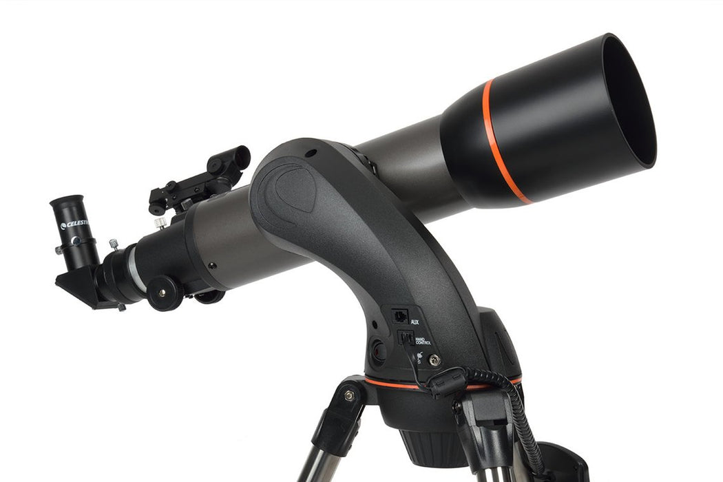 Celestron 102 SLT Refractor GOTO Telescope Side View