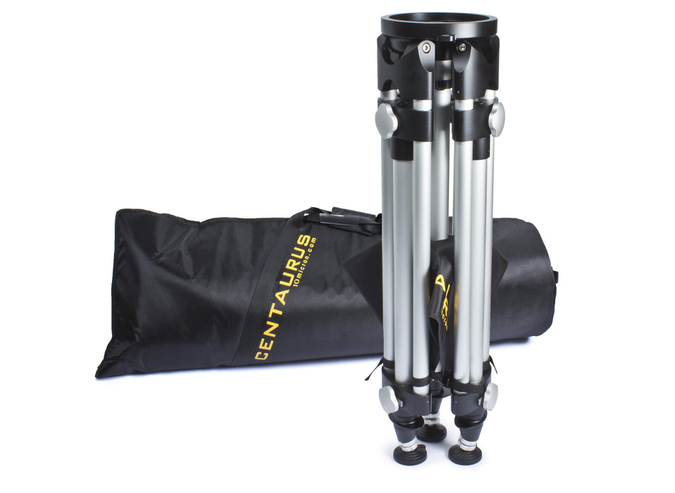10Micron Centarus II Tripod closed with carry bag