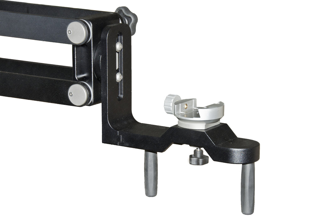 Baader 44mm Vixen Style Dovetail Clamp attached to the 10Micron BM100 Binocular Mount