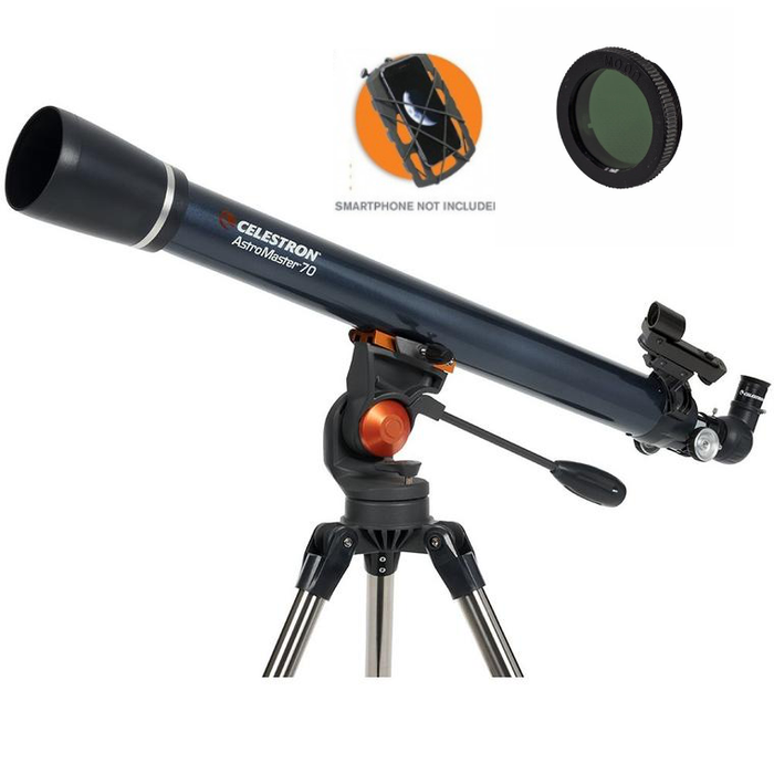 AstroMaster 70AZ Refractor with Smartphone Adaptor and Moon Filter