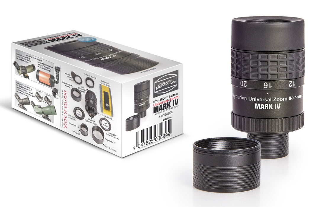 "Baader Hyperion Universal Zoom Mark IV, 8-24mm Eyepiece (1 ¼ / 2"")"