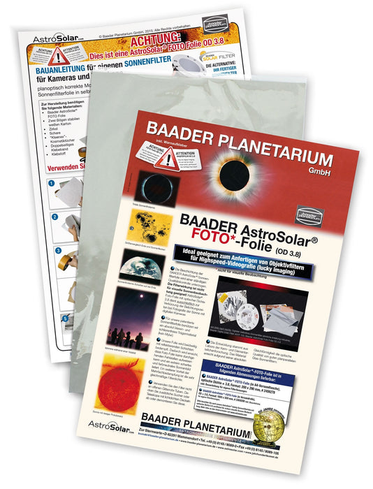 Baader AstroSolar Photo Film OD 3.8, 20x30  cm