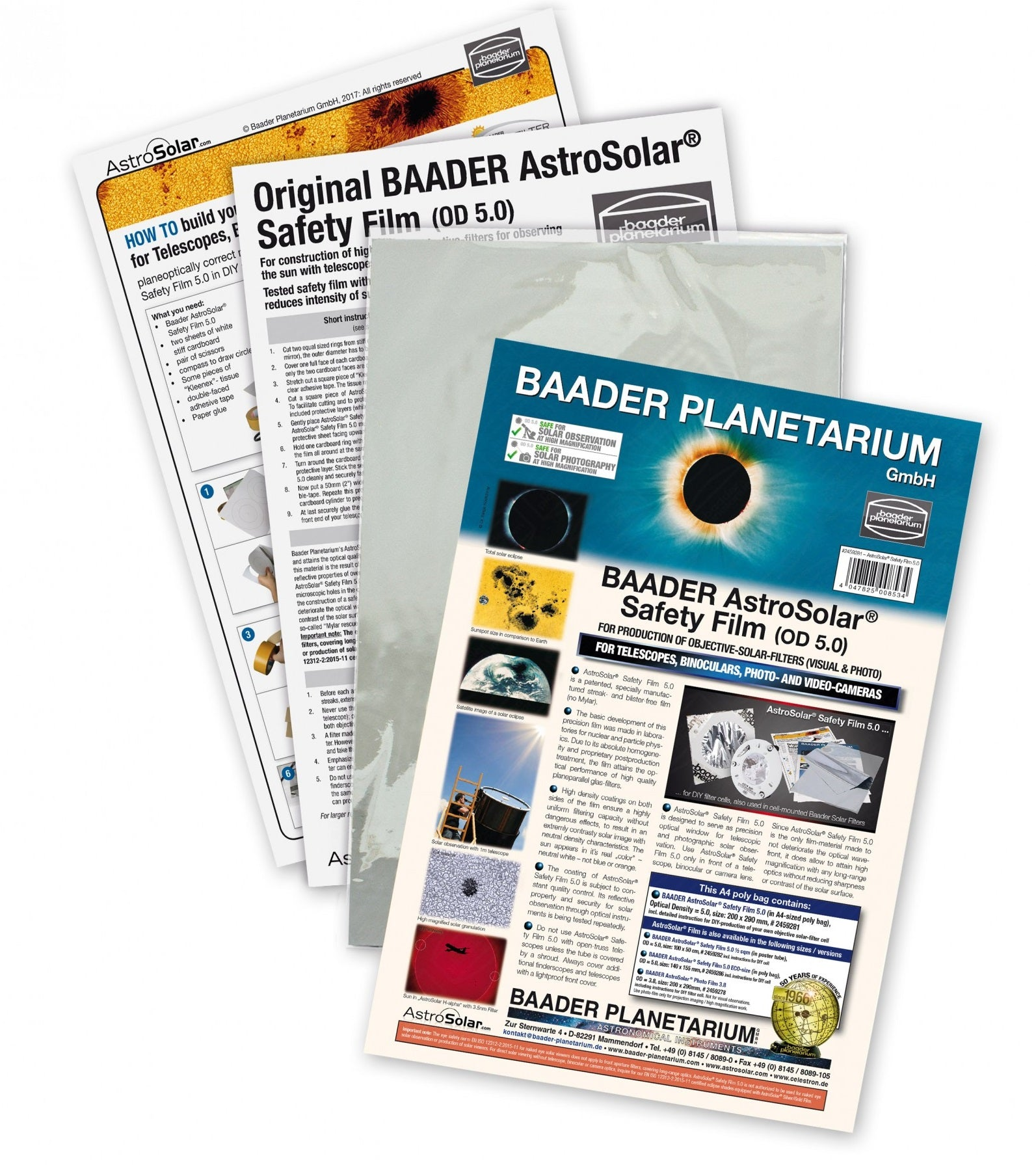 Baader AstroSolar® Safety Film 5.0, 20x29cm