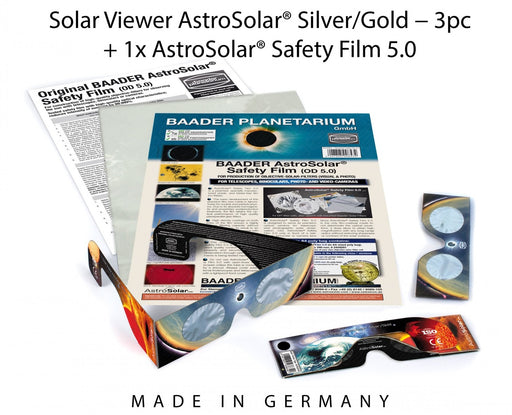 Baader AstroSolar Safety Film and Solar Viewers Bundle