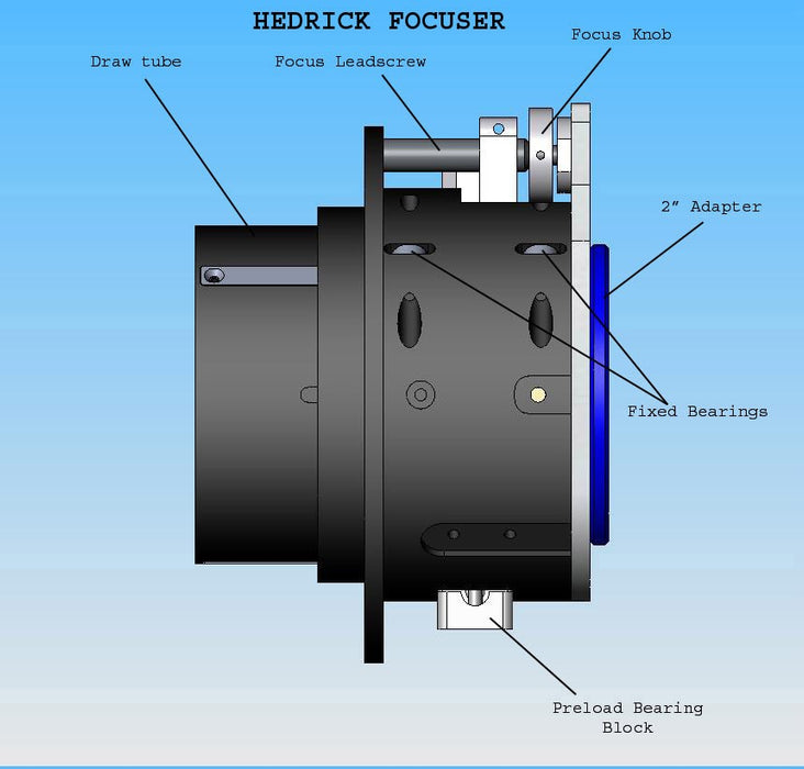 PlaneWave Hedrick Focuser Drawing Side View