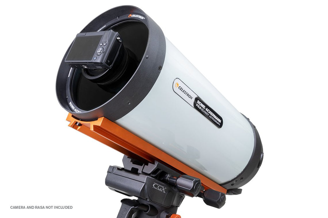 "Celestron RASA 8"" Camera adaptor for Canon Mirrorless Cameras with camera attached to a RASA 8"""