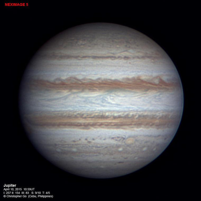 Celestron NexImage 5MP Colour Solar System Imager - image of Jupiter