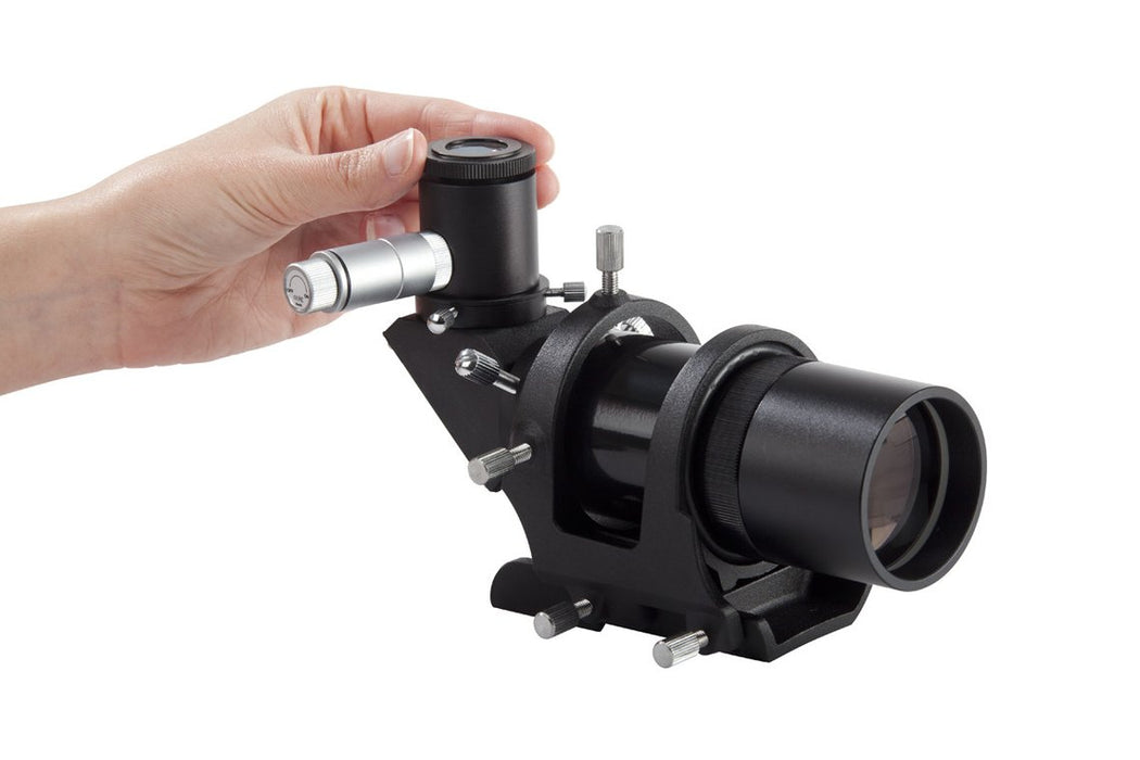 Celestron 9x50 Illuminated Right Angle Correct Image Finderscope - focus adjustment for crosshair viewing