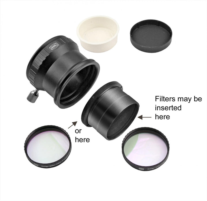 "Baader 2"" Deluxe Clamping Eyepiece Holder (T-2 Part #17) with 2"" Extension Tube (T-2 part #17A, #17C & #19)"