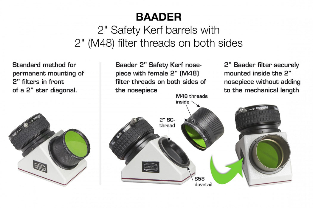 "Baader 2"" ClickLock Diagonal Mirror - Example use with a filter not supplied"