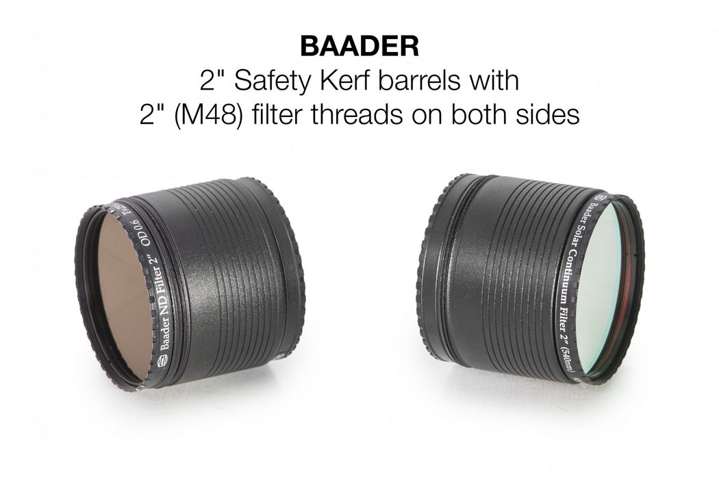 "Baader 2"" Safety Kerf Nosepiece with 2"" Filter Thread - example use"