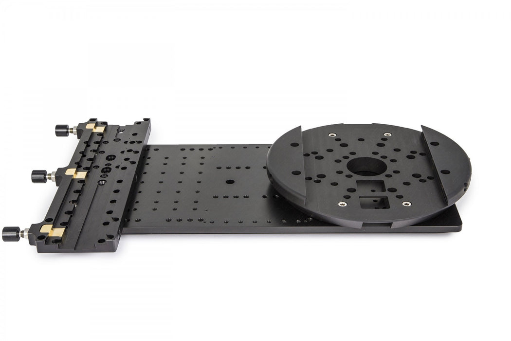 "Baader Heavy Duty 8"" Double Mounting Plate (for up to 100kg payloads) Showing Attachments"