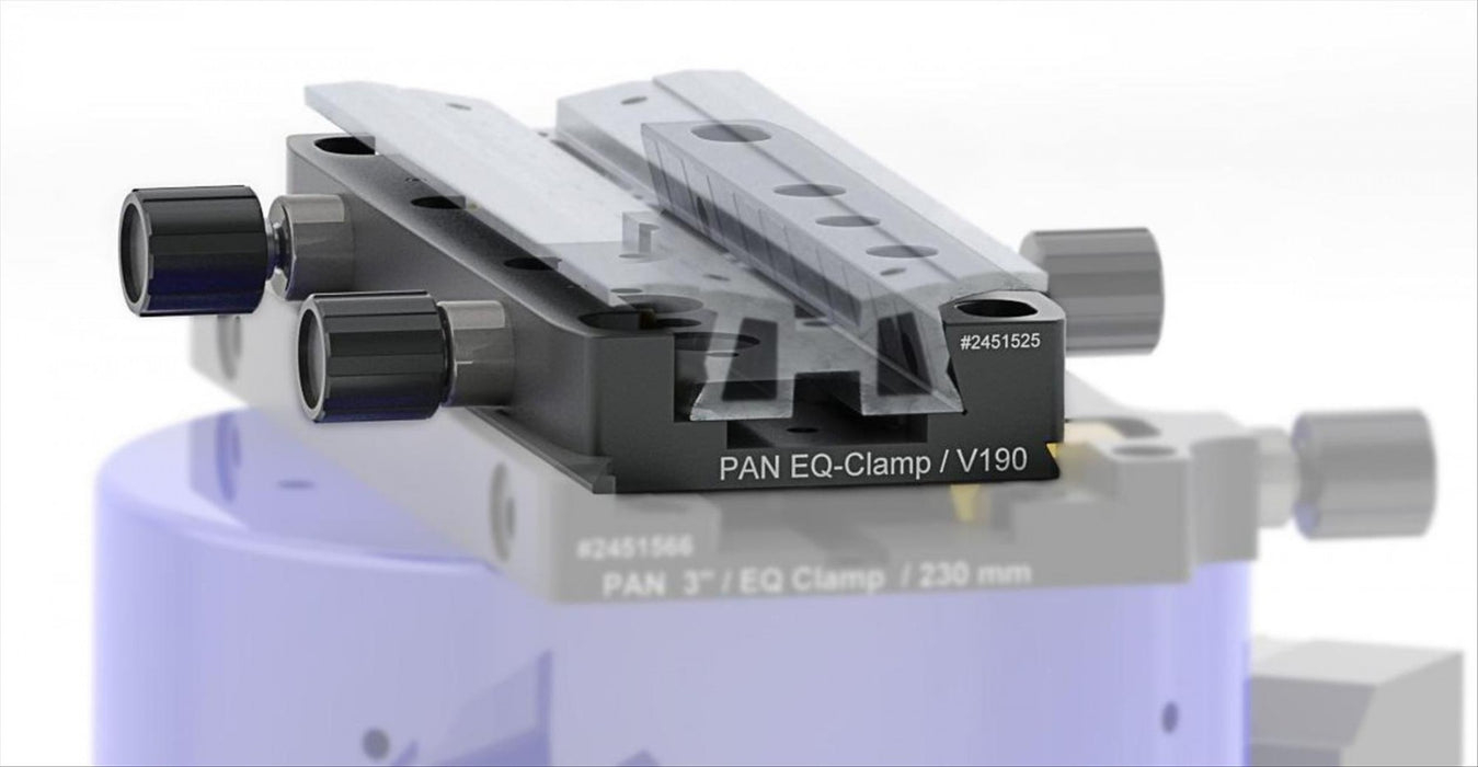 Baader Pan-EQ Clamp V190 showing various attachments