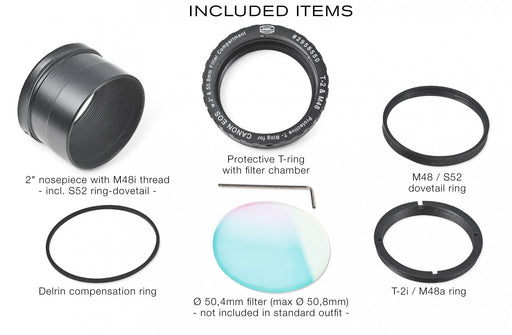 "Baader Zero-Tolerance Protective Canon DSLR T-2/M48 and 2"" T-Ring  - Parts"
