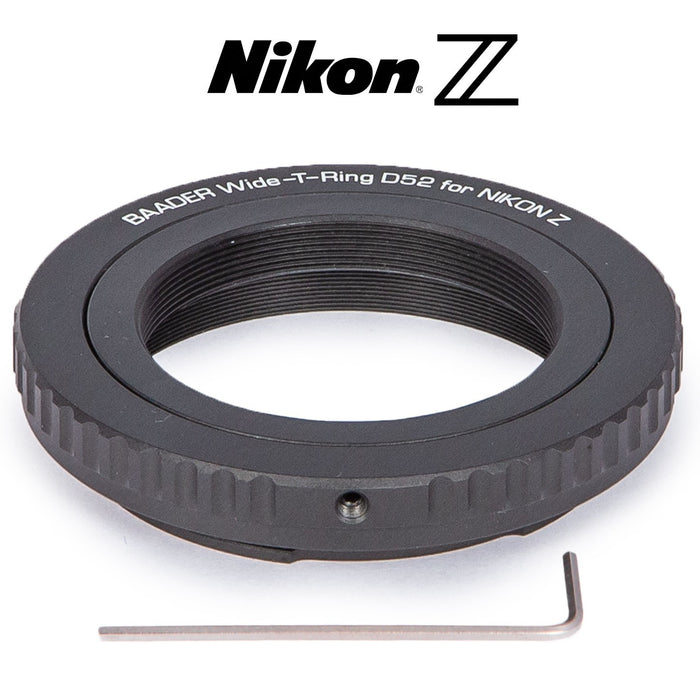 Baader Wide-T-Ring Nikon Z Bayonet with D52i to T-2 and S52