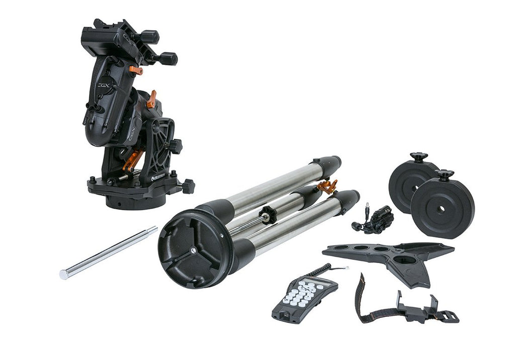 Celestron CGX Equatorial Mount and Tripod - included accessories