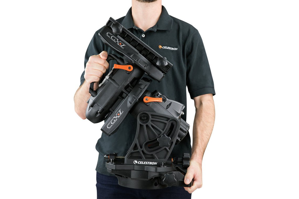 Celestron CGX-L Equatorial Mount and Tripod - showing ergonomic design