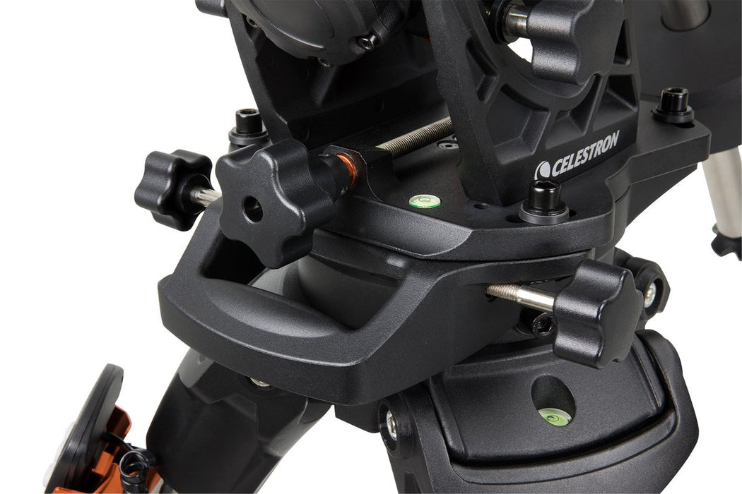 Celestron CGX-L Equatorial Mount and Tripod - closeup of base