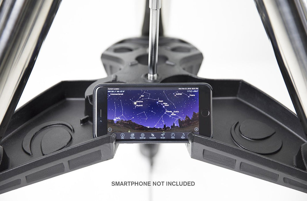Celestron CGX-L Equatorial Mount and Tripod - tripod accessory tray with smartphone holder