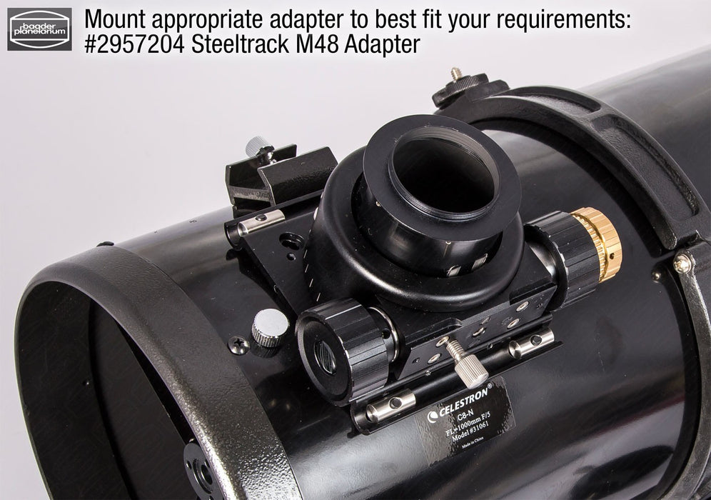 Baader Diamond Steeltrack® M48 Adaptor - fitted to a telescope