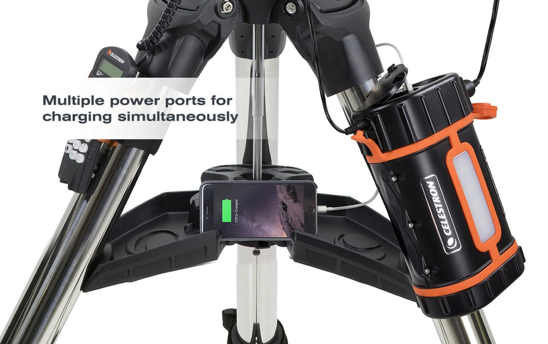 Celestron Lithium PowerTank Pro - attached to a tripod
