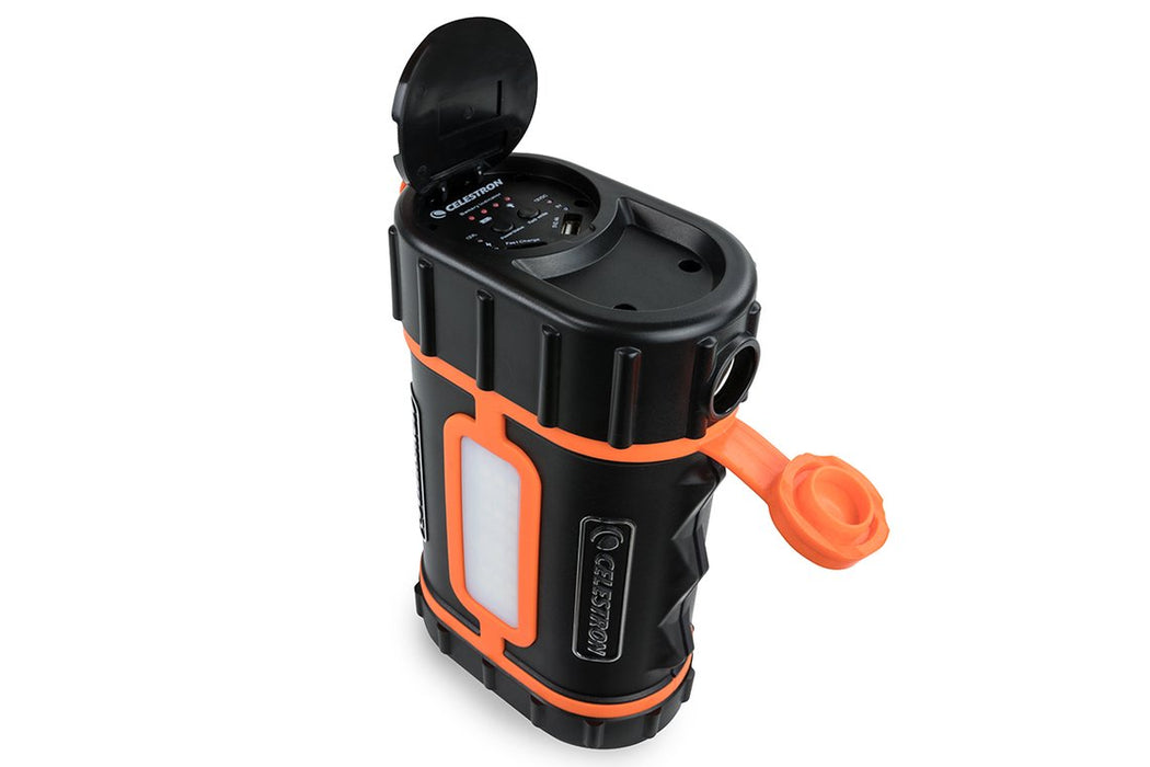 Celestron Lithium PowerTank Pro - with top and 12V ports open