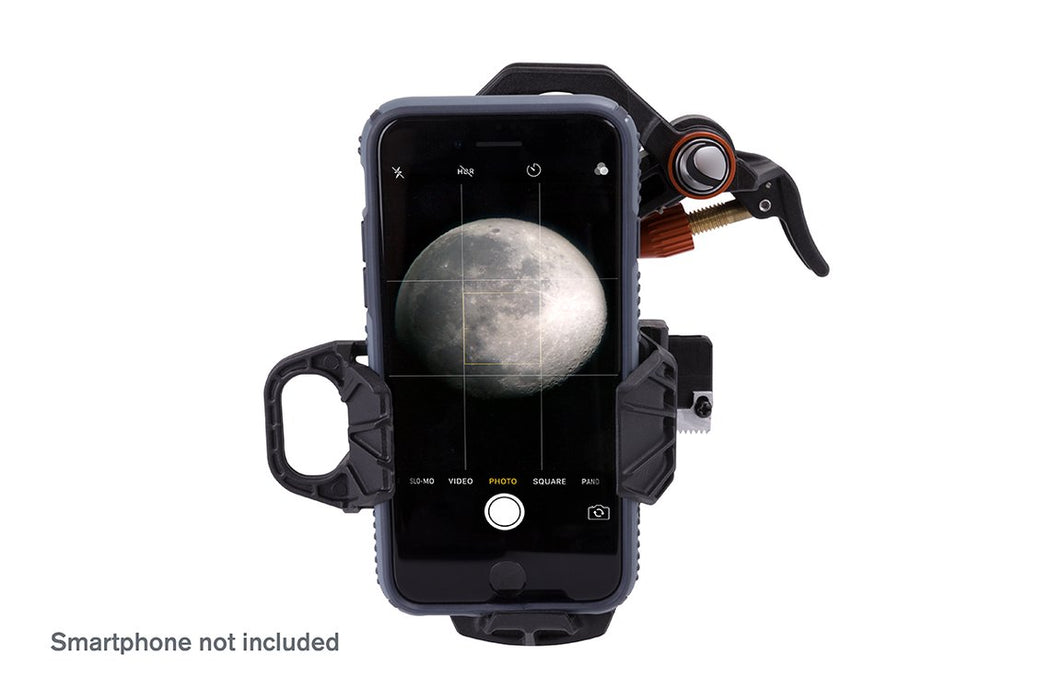 Celestron NexYZ 3-Axis Universal Smartphone Adaptor with smartphone (not included)