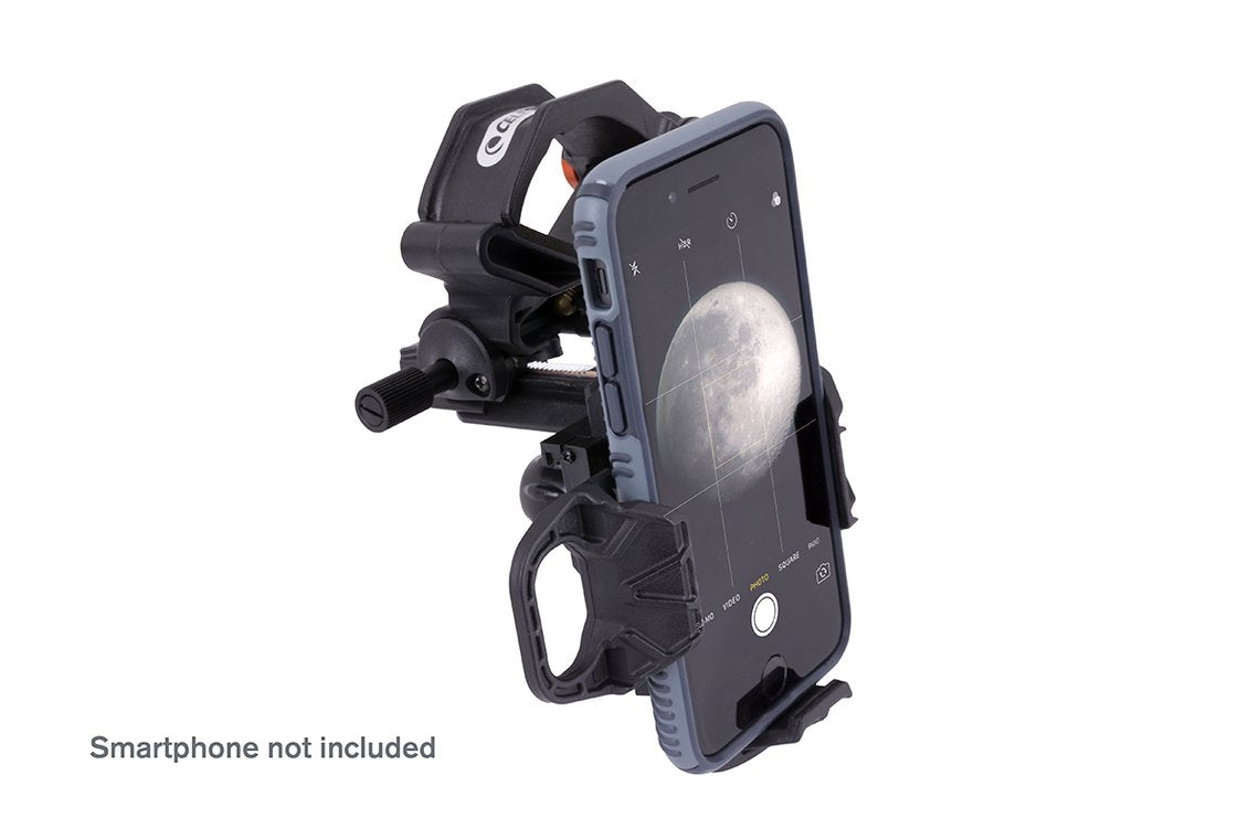 Celestron NexYZ 3-Axis Universal Smartphone Adaptor with smartphone (not included) - side view