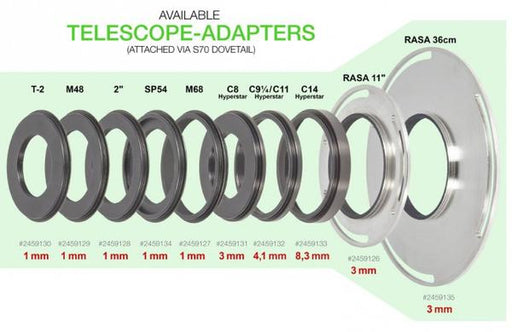 Baader Universal Filter Changer (UFC) S70 Telescope-side Adaptors