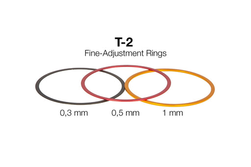 Baader T-2 Aluminium Fine-Adjustment Rings (0.3mm, 0.5mm, 1mm) and Ring Set